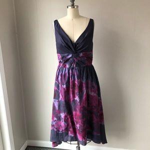 Purple Floral Hi-Low Summer Dress